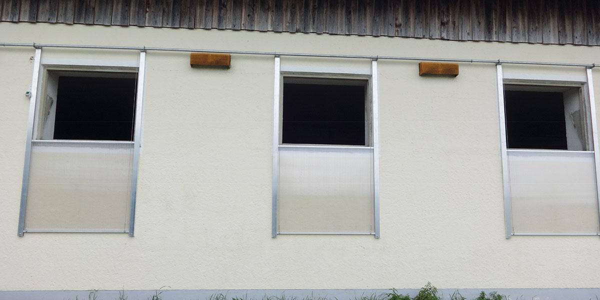 Einzelfenster aus Plexiglas